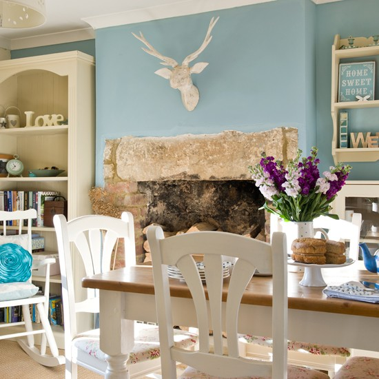 Duck Egg And White Country Dining Room Beautiful Homes