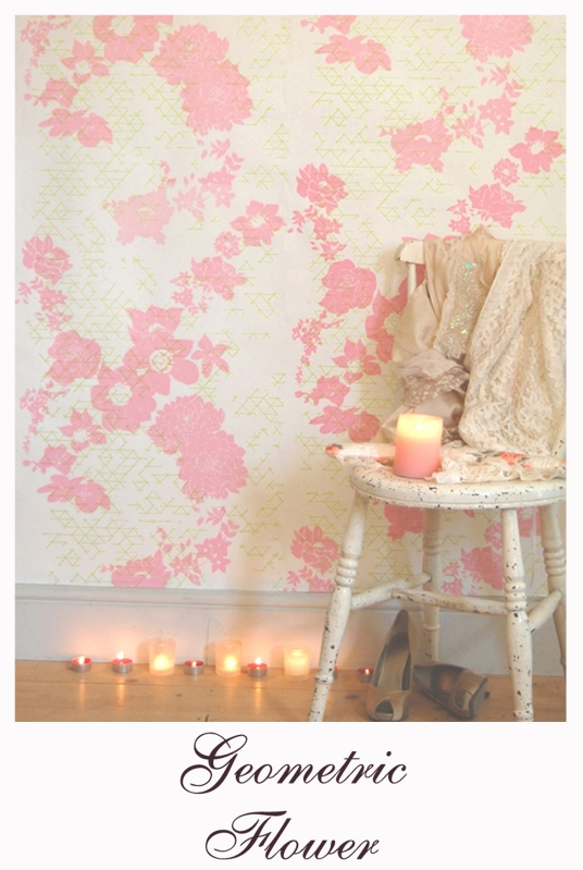Laura Felicity Geometric Flower Wallpaper Link