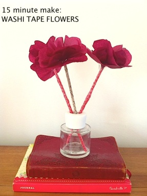 Washi tape flowers title image