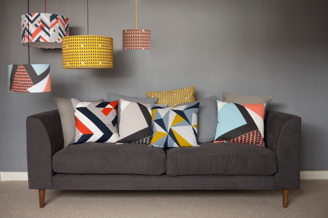Lorna Syson sofa and cushions