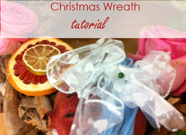 Christmas wreath tutorial header image
