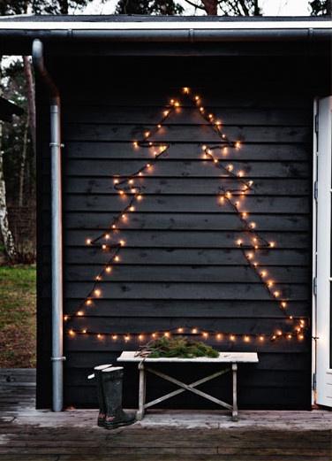 Fairy light christmas tree