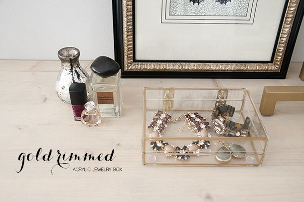 House of Ernest gold jewellery box