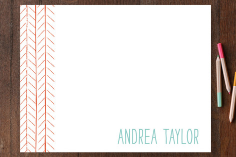 Personalised stationary from Minted