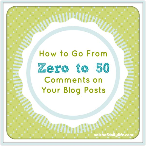 zero to fifty blog posts