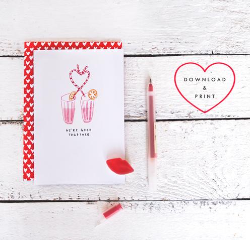 valentine card printable