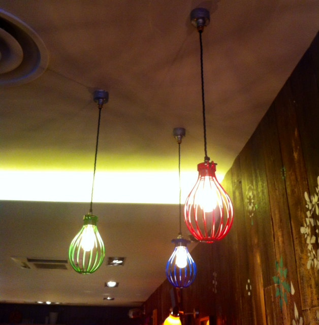 Industrial style wire lights