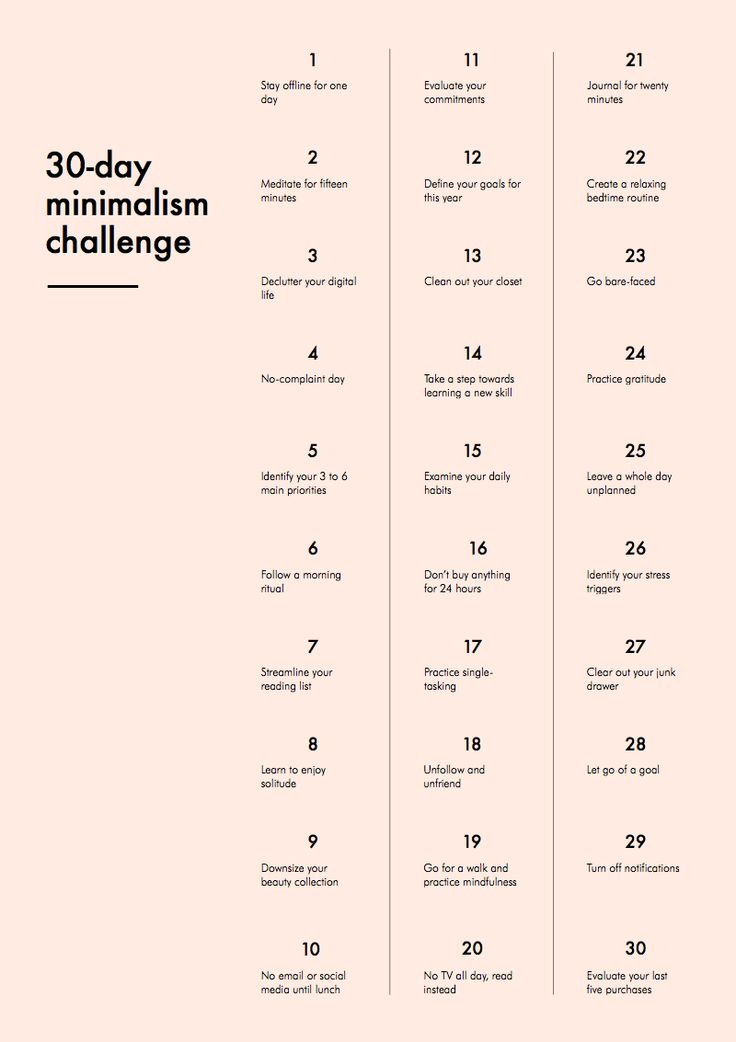 Minimalism challenge