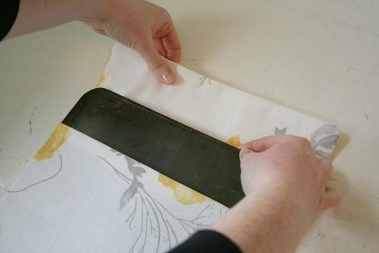 memo board in fabric