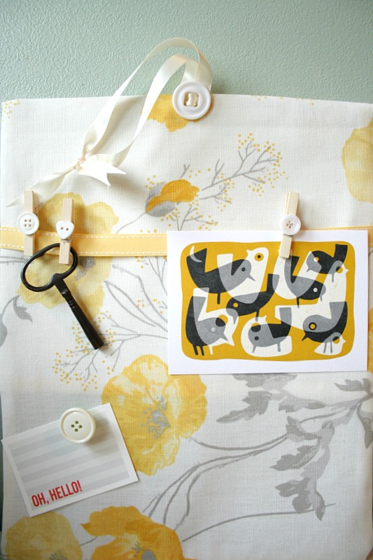 memo board with items on