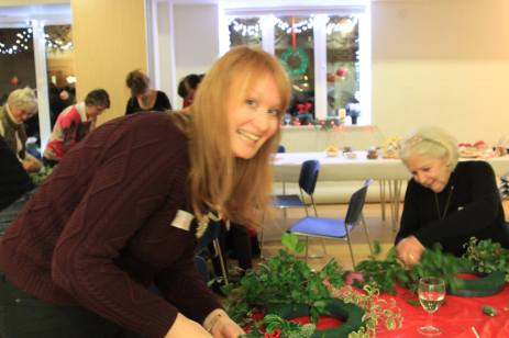 Claire wreath making